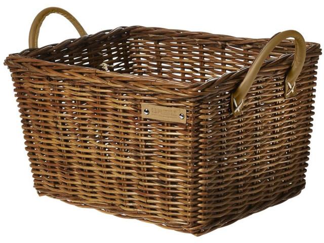 Basil Portland Classic Front Wheel Basket, varnished natural
